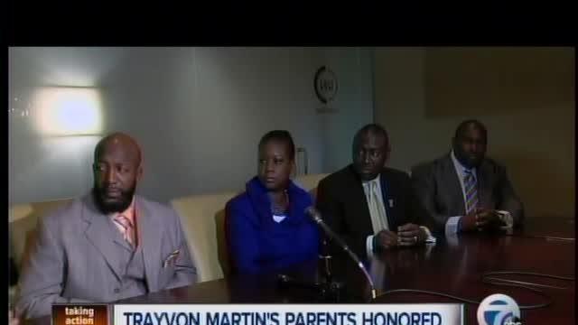 Trayvon Martin's Parents in Detroit