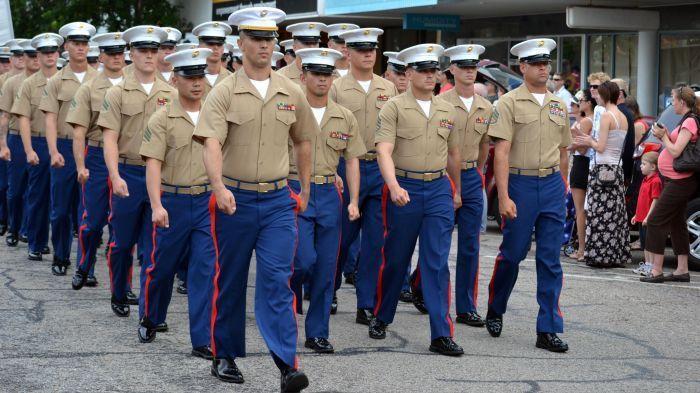 US Marines march in Darwin