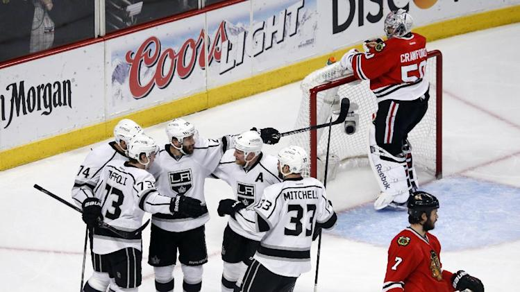 LA Kings win Game 7 in OT, eliminate Chicago and advance to Sta…
