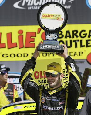 Menard wins Nationwide race after Logano's mishap