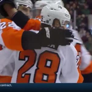 Claude Giroux Goal on Darcy Kuemper (09:33/1st)