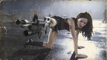 "Rose McGowan in the ""Planet Terror"" segment of Dimension Films' Grindhouse"