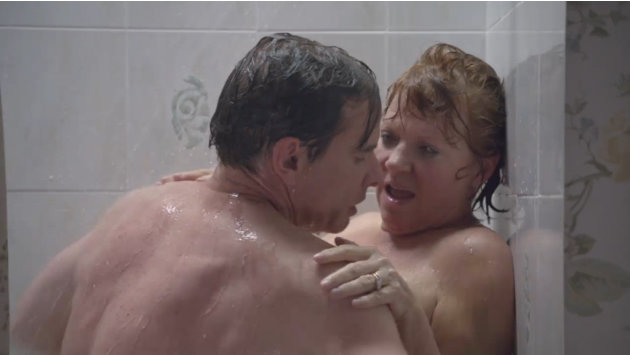 Hannah's parents in the shower, …