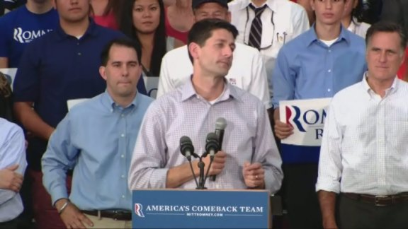 Ryan addresses hometown crowd in Wisc.