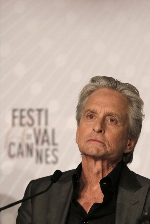 "Cast member Michael Douglas attends a news conference for the film ""Behind the Candelabra"" during the 66th Cannes Film Festival in Cannes"