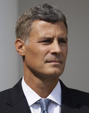 Alan Krueger stands by as he President Barack Obama, not seen, announces him as as chairman of the Council of Economic Advisers, Monday, Aug. 29, 2011, in the Rose Garden of the White House in Washington. (AP Photo/Carolyn Kaster)