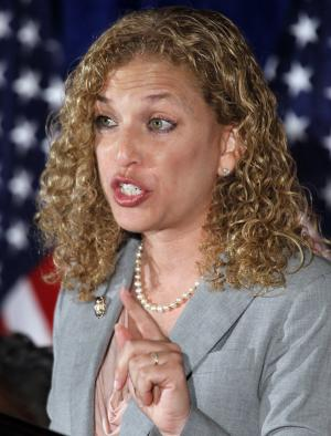 FILE -Democratic National Committee Chairwoman Rep. Debbie Wasserman Schultz, D-Fla., speaks during a meeting of Democratic National Committee in this May 4, 2011 file photo taken in Washington. It's a rare moment of bipartisanship in Washington: Both parties say they're enjoying the performance of the new Democratic Party chairwoman. (AP Photo/Alex Brandon)