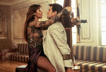 Sophie Marceau and Pierce Brosnan in MGM's The World Is Not Enough