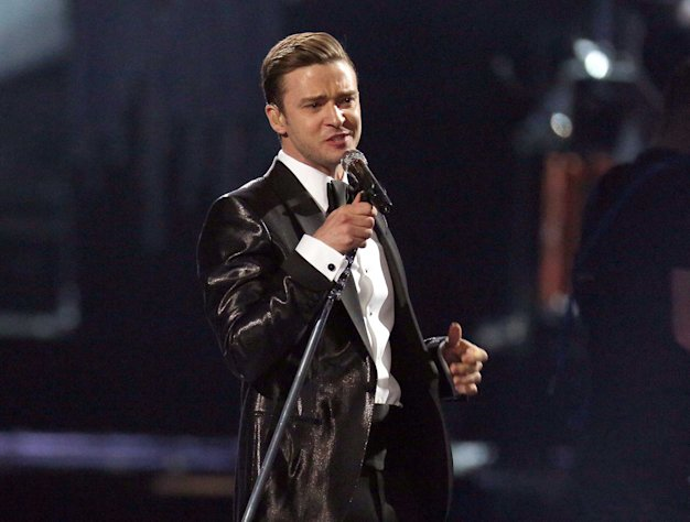FILE - This Feb. 20, 2013 file photo shows Justin Timberlake during the BRIT Awards 2013 in London. The final numbers aren&#39;t in yet, but last weekend&#39;s &quot;Saturday Night Live&quot; with Justin Timberlake as host had far more viewers than anything NBC aired in prime time last week. The badly slumping NBC had its lowest prime-time viewership average ever, even counting summer months, the Nielsen company said. (Photo by Joel Ryan/Invision/AP, file)