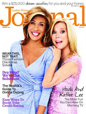 Kathie Lee Gifford and Hoda Kotb on the cover of Ladie's Home Journal (Feb. 2013) -- Ladies Home Journal