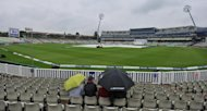 Rain at Edgbaston in Birmingham, England, on June 11. The third Test between England and the West Indies was heading towards a draw after rain prevented any play before lunch on the final day at Edgbaston on Monday