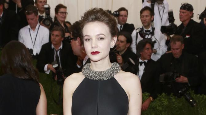 "British actress Carey Mulligan arrives for the Metropolitan Museum of Art Costume Institute Gala 2015 celebrating the opening of ""China: Through the Looking Glass,"" in Manhattan"