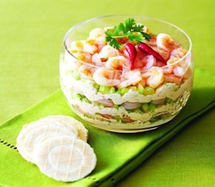 Layered teriyaki shrimp dip