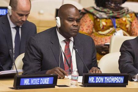 McDonald's CEO Don Thompson takes part in a session focused on 'Agriculture' during the Climate Summit at the United Nations in New York