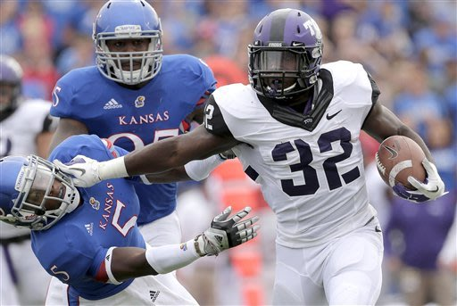 TCU leading rusher James out for season (knee)