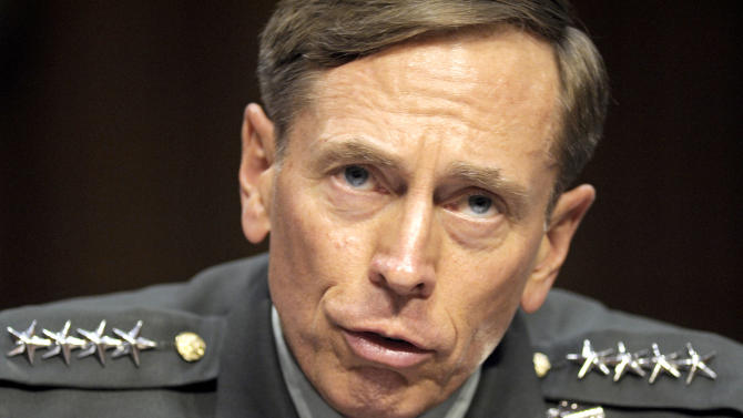 FILE - In this June 23, 2011 file photo, then-CIA Director-desigate Gen. David Petraeus testifies on Capitol Hill in Washington. Petraeus has resigned because of an extramarital affair.  (AP Photo/Cliff Owen, File)