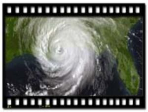 Satelite image of Hurricane Katrina as it made land fall along the Louisiana Gulf Coast, Aug. 29th, 2005