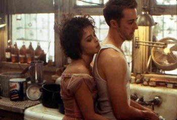Helena Bonham Carter and Edward Norton in Fight Club