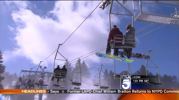 Skiers Flock to Mountains As SoCal Temperatures Drop