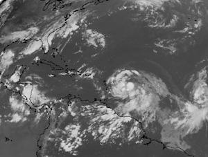 Tropical Storm Isaac Swirls to Life in Atlantic