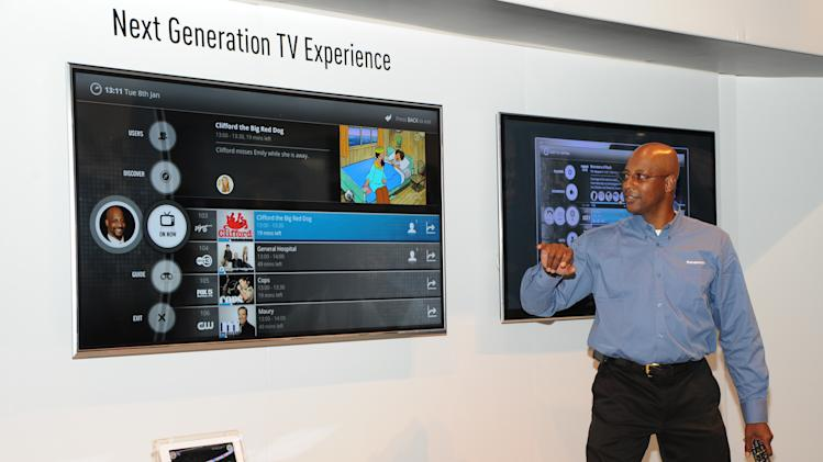 """""""Next Generation TV"""" demonstration at The 2013 International CES, on Tuesday, January 8, 2013, Las Vegas, NV displayed in the Panasonic Booth (Photo by Al Powers/Invision for Panasonic/AP Images)"""