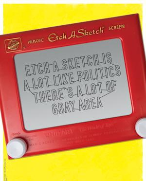 "This undated image provided by the Ohio Art Company, makers of Etch A Sketch, shows a detail of one of the ads for a new politics-themed ad campaign. The company is launching the campaign after making headlines nationwide when an aide for Mitt Romney compared his election campaign to the toy. Three ads in the campaign, tagged ""Shake it Up, America,"" poke fun at politics in general and maintain that the toy, created in 1960, is politically neutral. (AP Photo/The Ohio Art Company)"