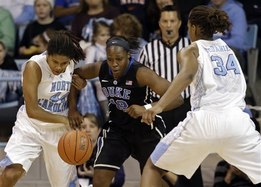 No. 5 Duke women roll past No. 11 UNC 84-63
