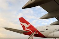 A Qantas A380 Airbus is seen on the tarmac at Melbourne&#39;s Tullamarine Airport, in 2011. Australian marketing baron John Singleton said Wednesday he has &quot;always&quot; been interested in ailing Qantas but stopped short of confirming reports he is part of a consortium planning a takeover