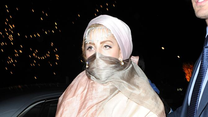 Lady Gaga Sighting As She Leaves The Philip Treacy Show At London Fashion Week
