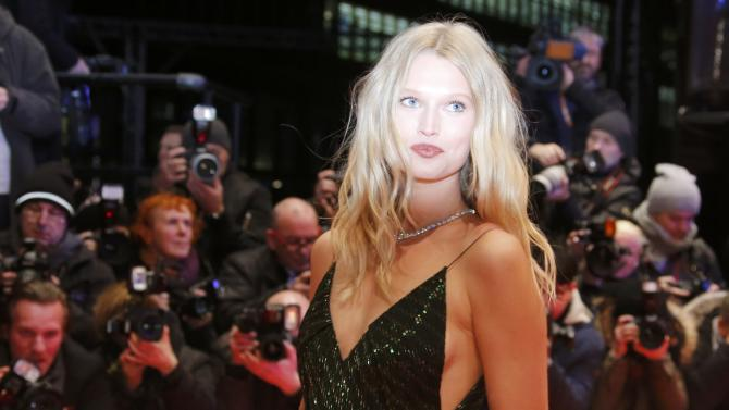 German model Garrn arrives on the red carpet for opening gala of the 66th Berlinale International Film Festival in Berlin