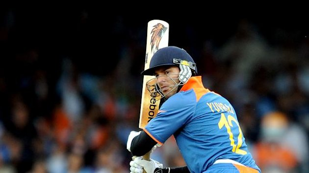 Yuvraj Singh scored 77 for India (PA Photos)