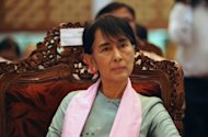 Myanmar's democracy champion Aung San Suu Kyi seen here on September 8 will travel to the United States next Sunday, a spokesman for her party told AFP, in a trip that will see her awarded Washington's highest honour