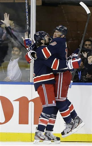 Gaborik scores 3 as Rangers earn 1st win