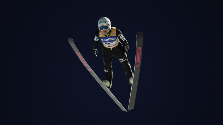 Sara Takanashi of Japan is airborne during FIS World Cup ski jumping HS100 in Lillehammer