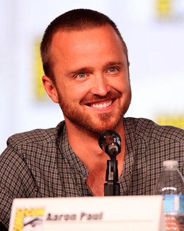 Aaron Paul was all smiles as he shoes off his new leading lady!