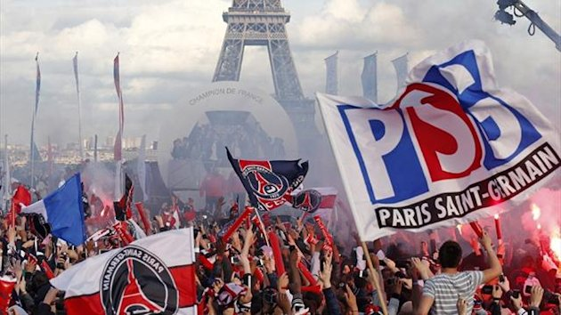 Violence breaks out during PSG's title-winning celebrations in Paris (Reuters)