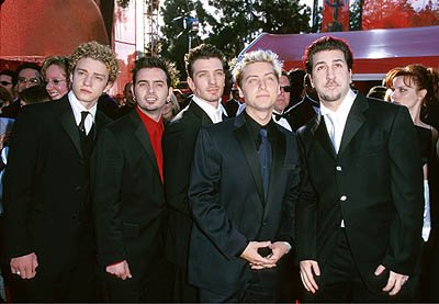 Justin Timberlake, Chris Kirkpatrick, JC Chasez, Lance Bass and Joey Fatone of N'Sync