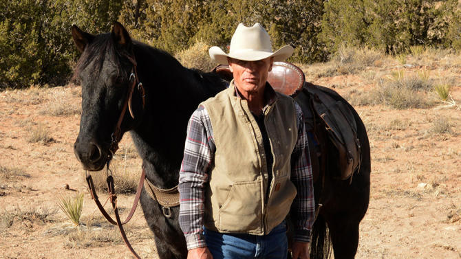 """This photo released by courtesy of Magnolia Pictures shows Ed Harris in a scene from the film, """"Frontera,"""" a Magnolia Pictures release. (AP Photo/Courtesy Magnolia Pictures)"""