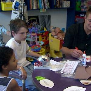 Raw Video: Rob Gronkowski Visits Boy Wounded In Dorchester Shooting