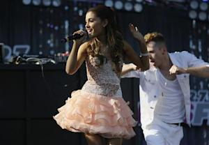 Ariana Grande performs at 2013 Wango Tango concert at the Home Depot Center in Carson