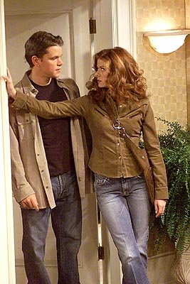 Matt Damon and Debra Messing on NBC's Will and Grace