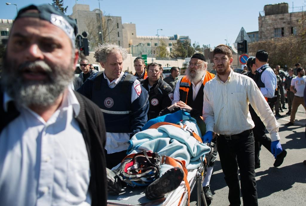 Five injured as driver rams pedestrians in Jerusalem