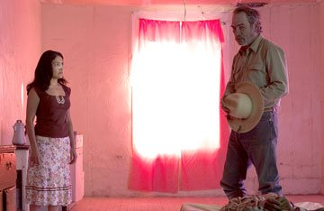 Cecilia Suarez and Tommy Lee Jones in Sony Pictures Classics' The Three Burials of Melquiades Estrada