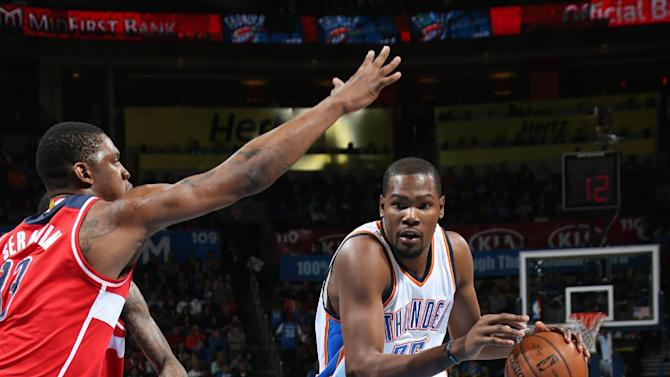 Durant scores 34, leads Thunder past Wizards