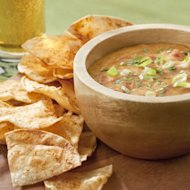 Chile Con Queso and Chile-Lime Tortilla Chips