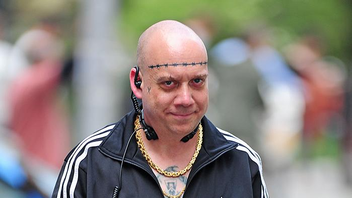 Paul Giamatti seen on the set of 'The Amazing Spiderman 2' in Brooklyn, New York City