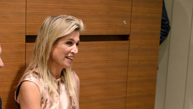 Netherlands' Queen Maxima participates in a meeting with U.N. Secretary-General Ban in New York