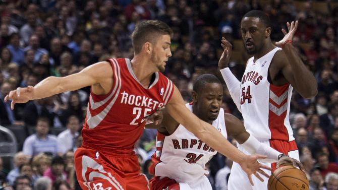 DeRozan leads Raptors past Rockets 107-103