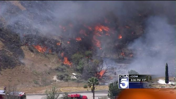 Homeowner Clearing Brush Sparked 40-Acre Fire That Threatened 10 Granada Hills Homes: LAFD