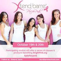 Xtend Barre® Plie for Pink™ Initiative To Benefit Bright Pink, Breast And Ovarian Cancer Prevention Organization